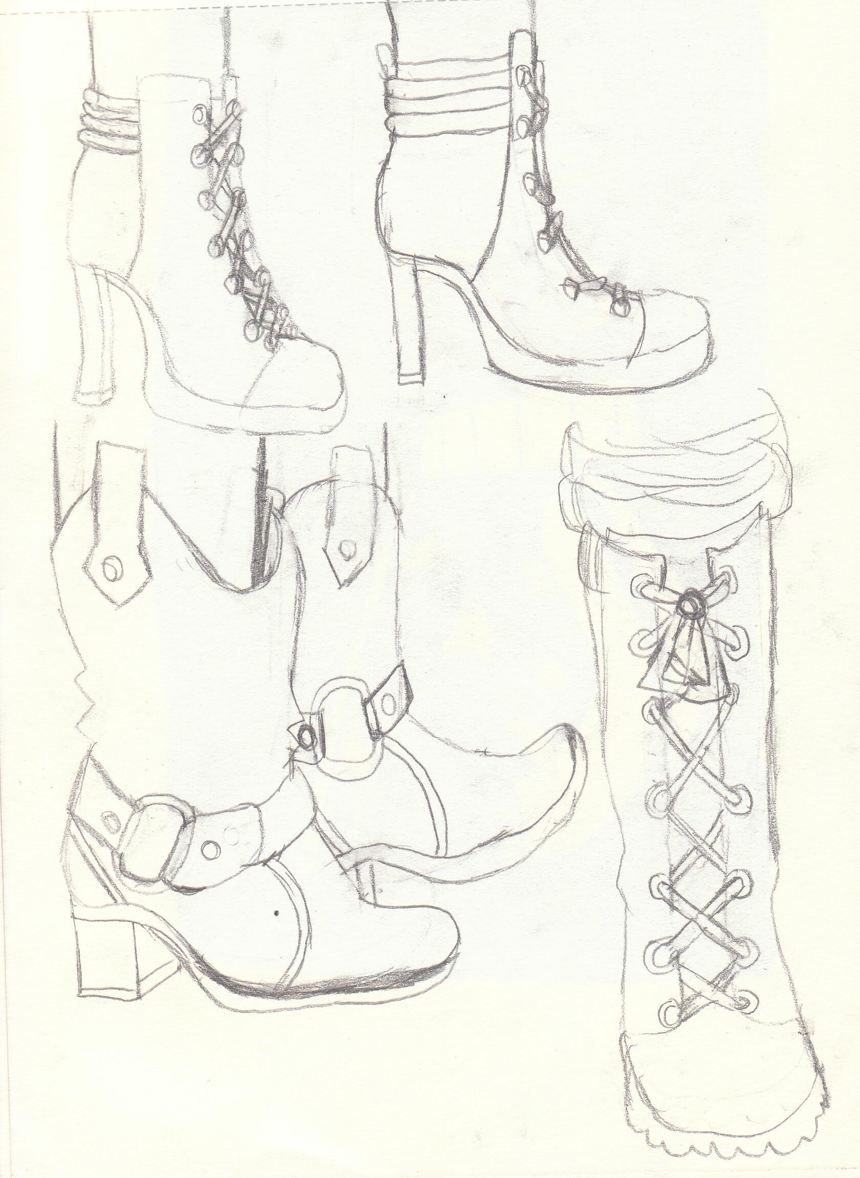 Auriane martin croquis chaussures