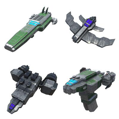 Bull 1 studio light space fighters