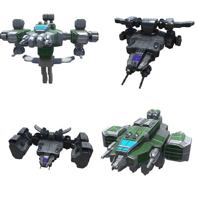 Bull 1 studio heavy space fighters