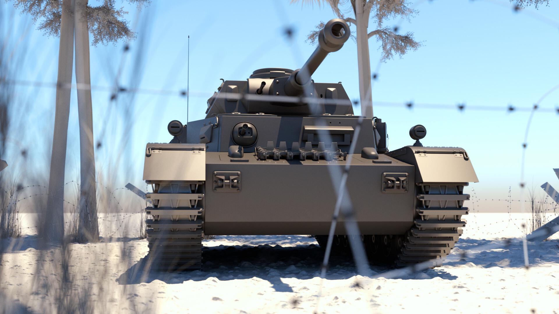 ArtStation - German Panzer Tank Afrika Korps, Kenny Syverson