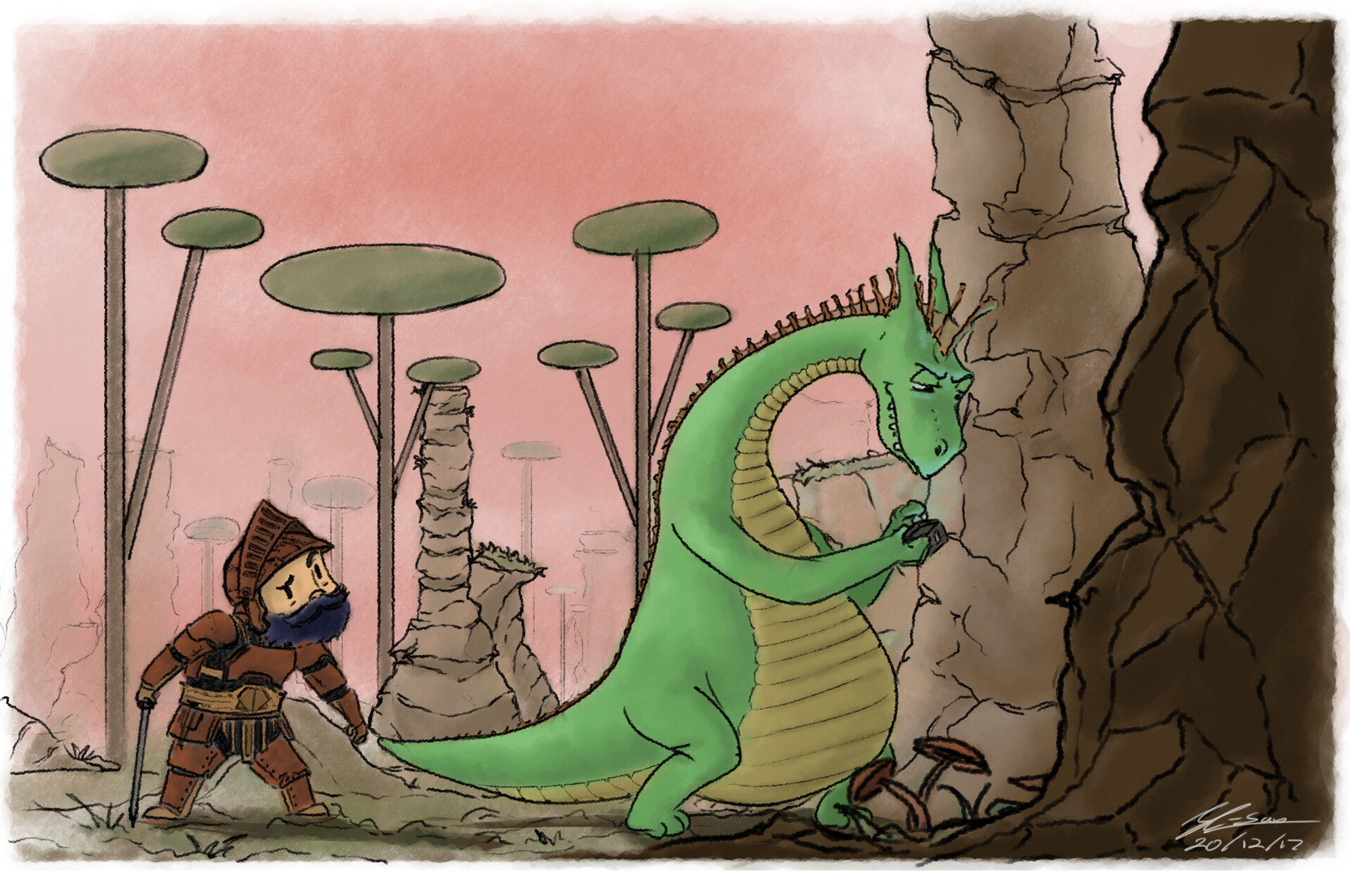 seriously...Dragon?  Because Smartphones would even distract a dragon.