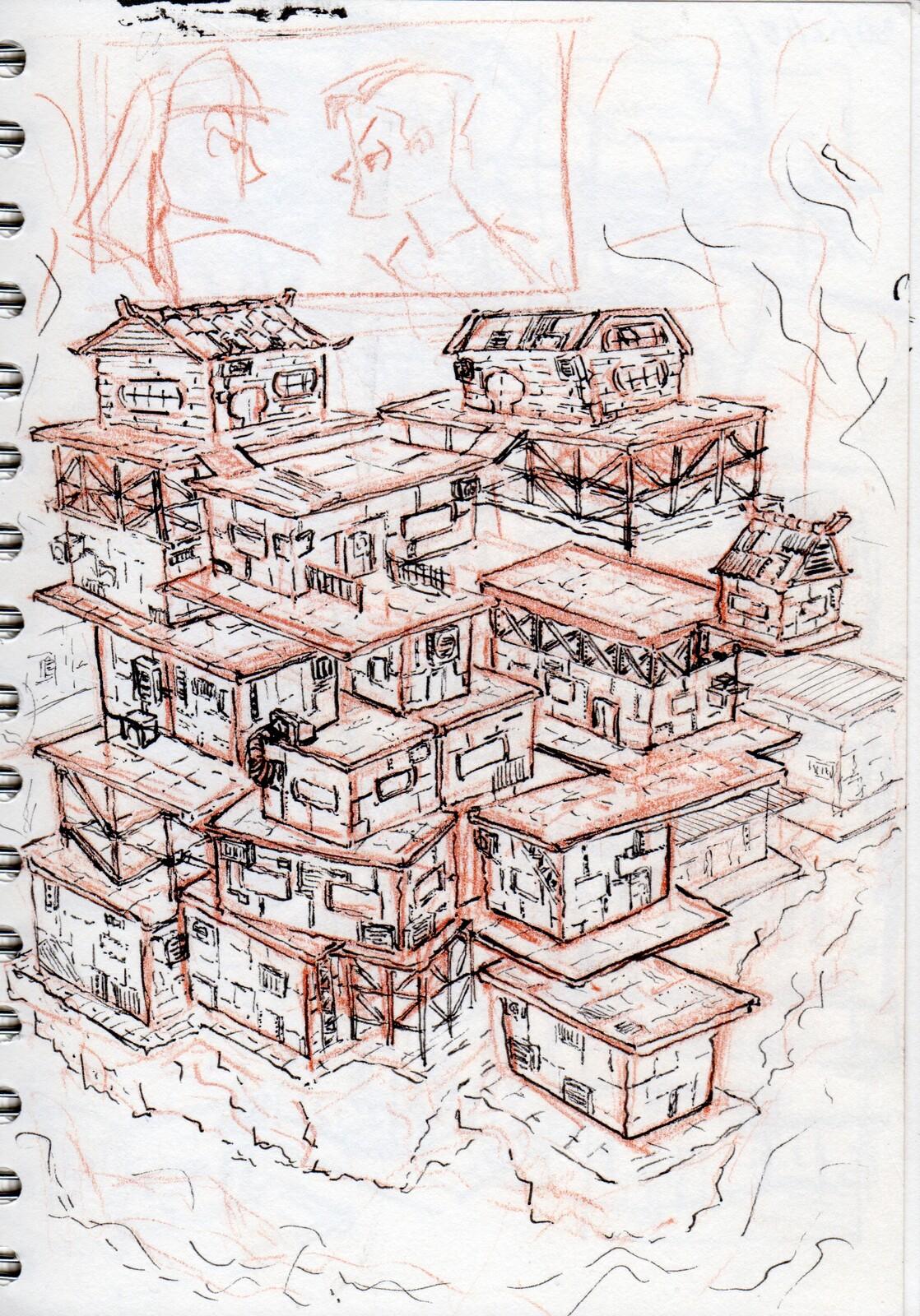 Sky City Sketch.