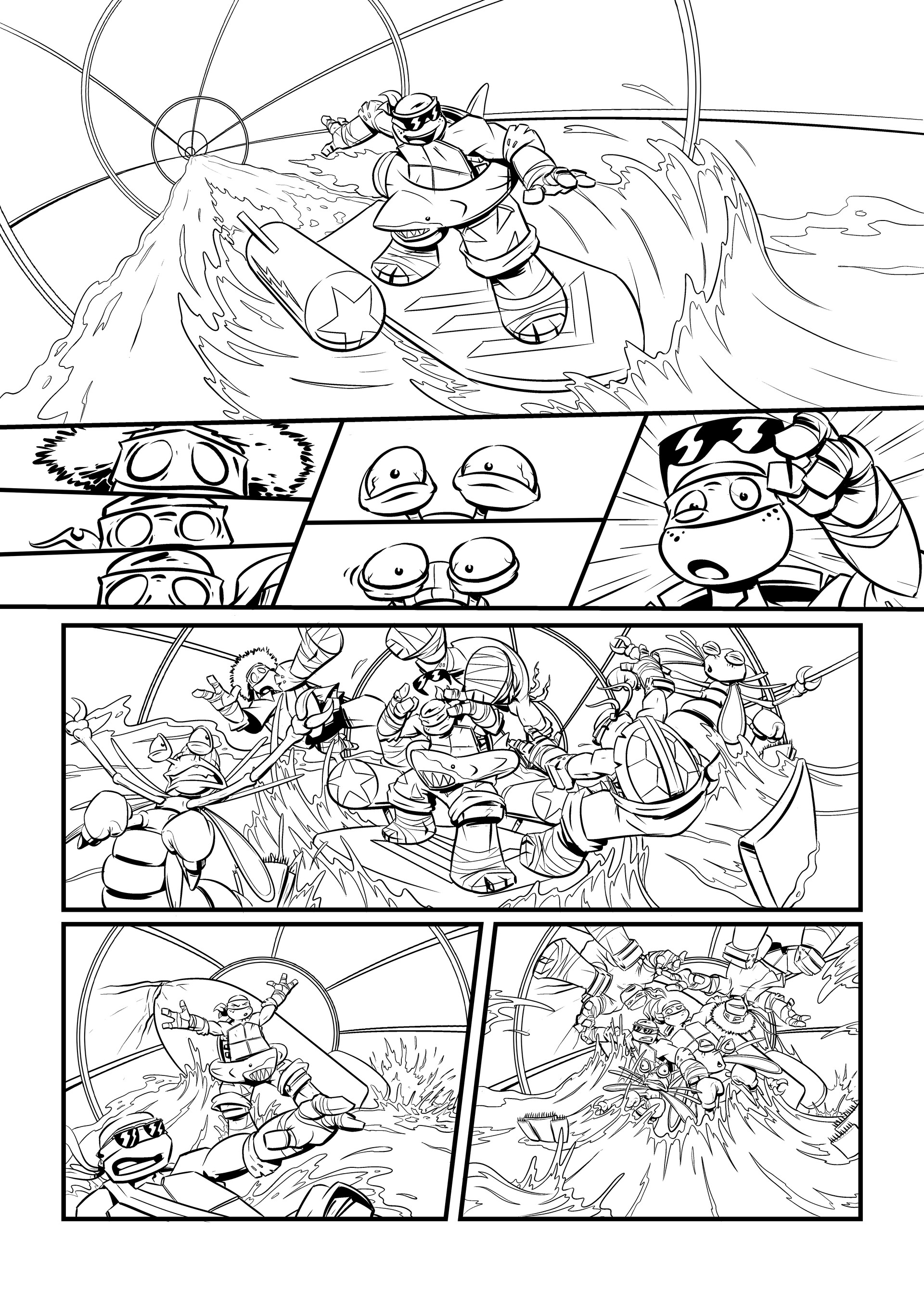Page excerpt from Nickelodeon/Panini's Teenage Mutant Ninja Turtles comic 'The Life Aquatic'