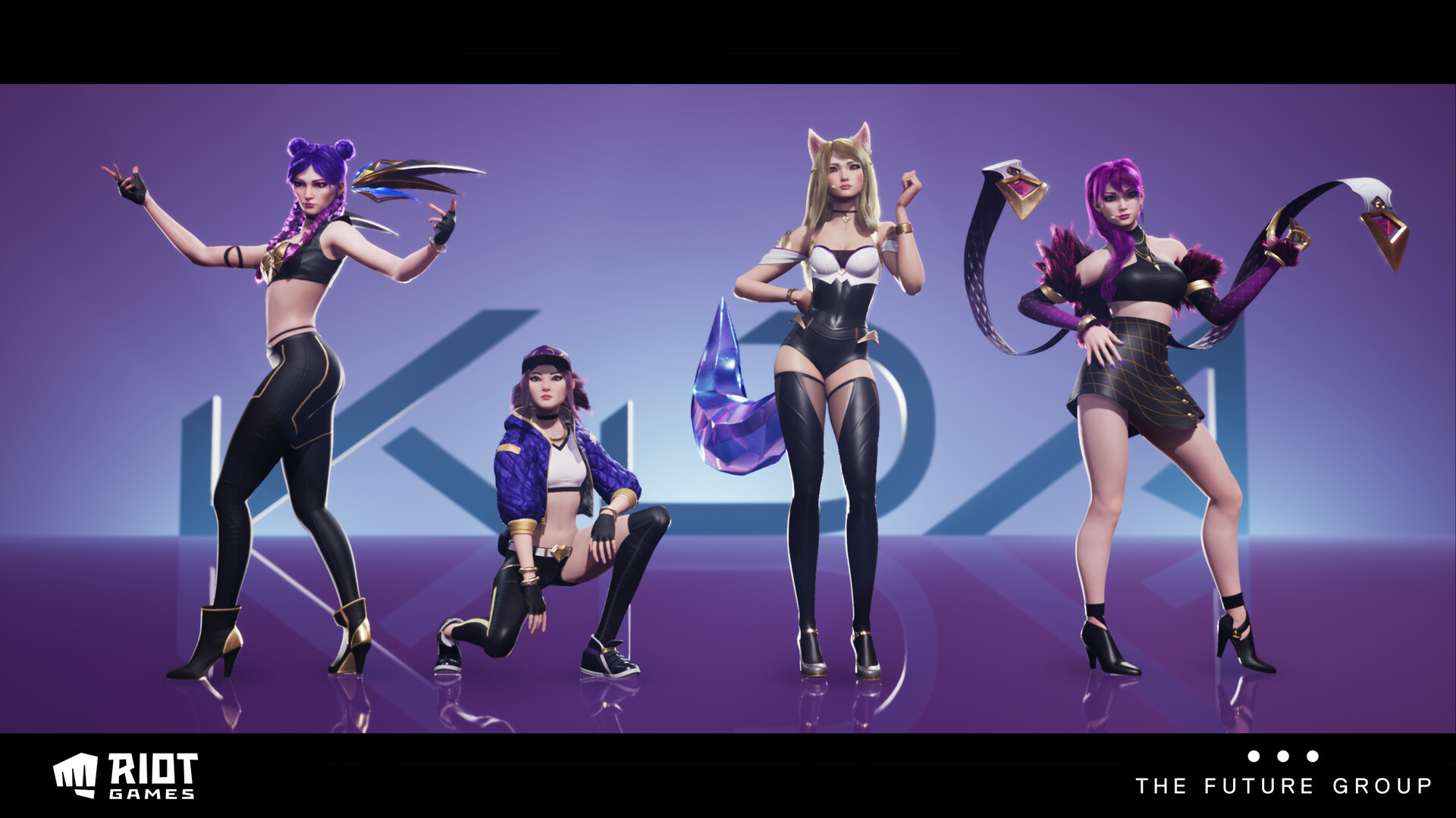 Final characters, posed in Pixotope (Unreal)