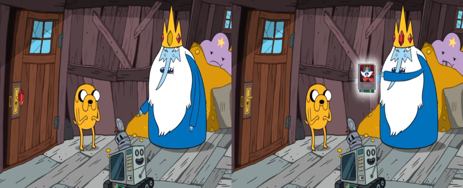 Combination puzzle to unlock the mini-game featuring the Ice King.