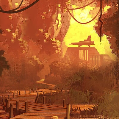 Travis lacey bridge swamp travis lacey artwork concept maysketchaday web