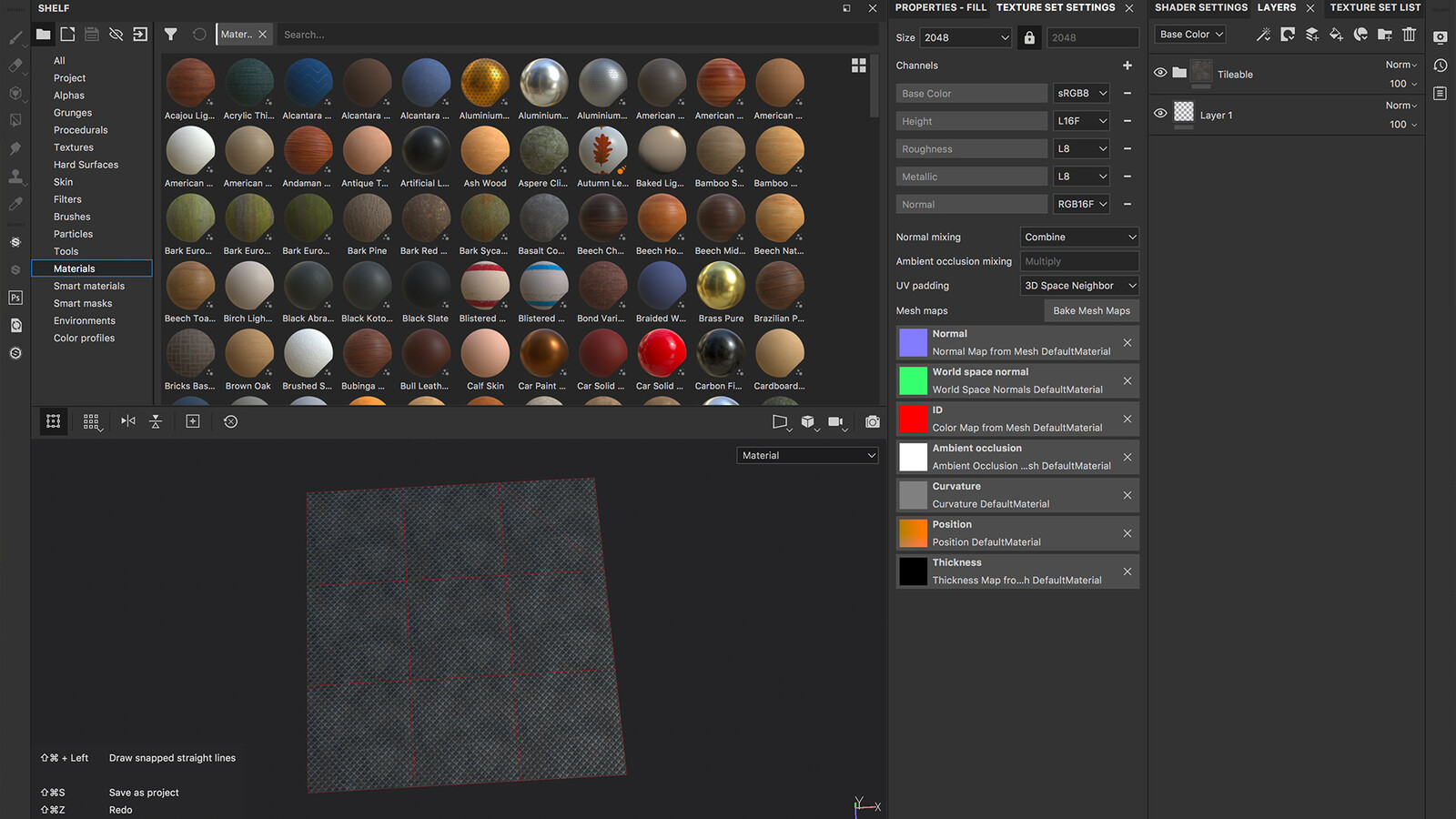 Not a typical workflow but tiling texture created in Substance painter!