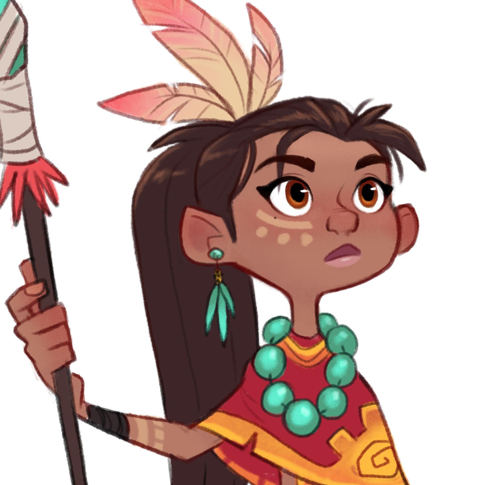 Luigi lucarelli tribal girl closeup