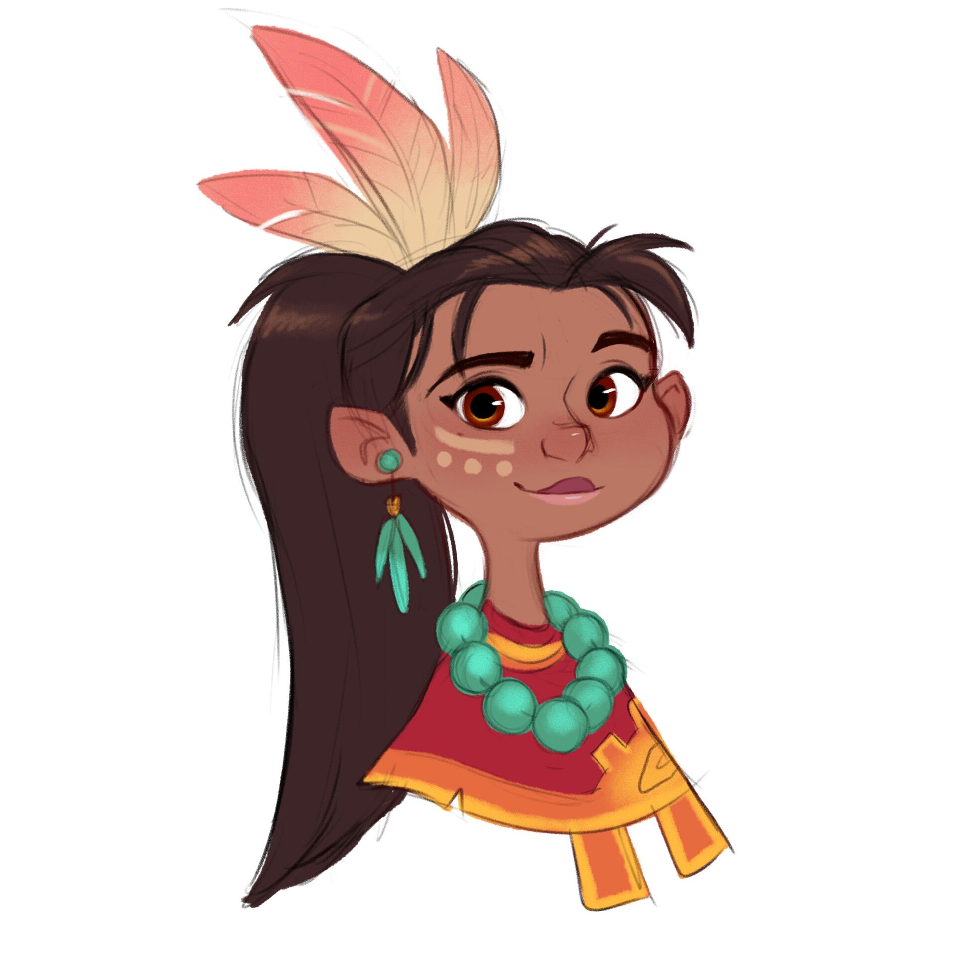 Luigi lucarelli tribal girl expressions 1