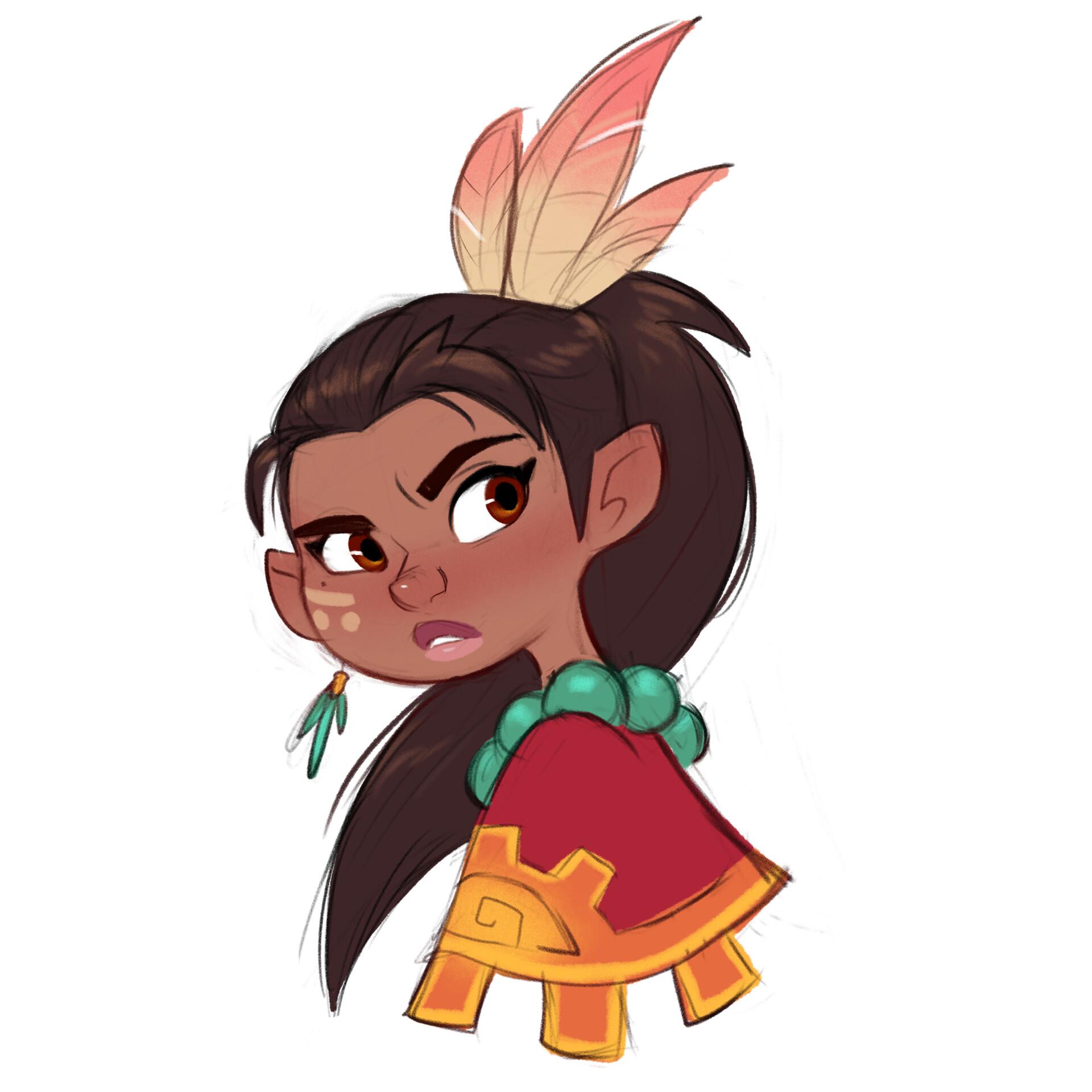Luigi lucarelli tribal girl expressions 2