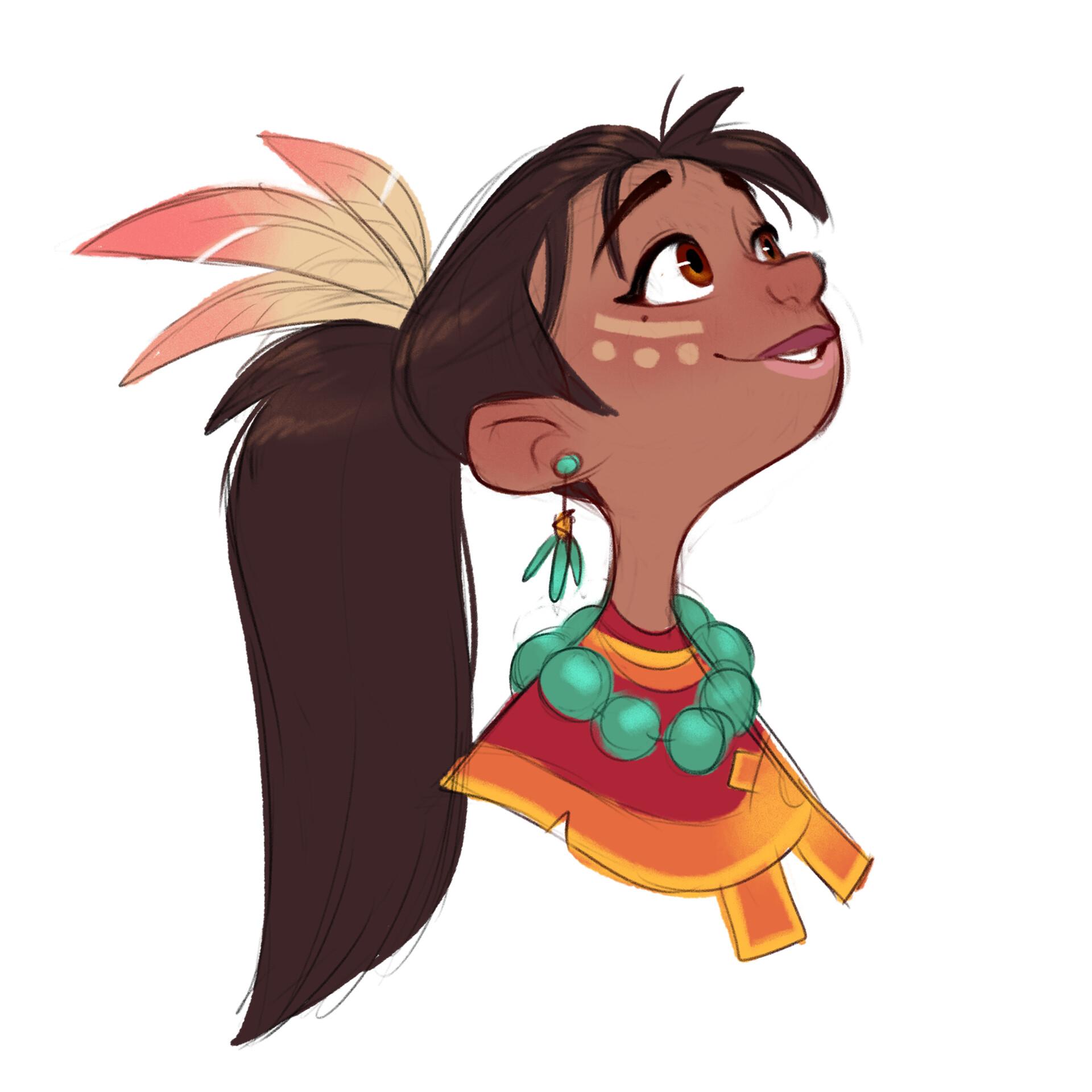 Luigi lucarelli tribal girl expressions 3