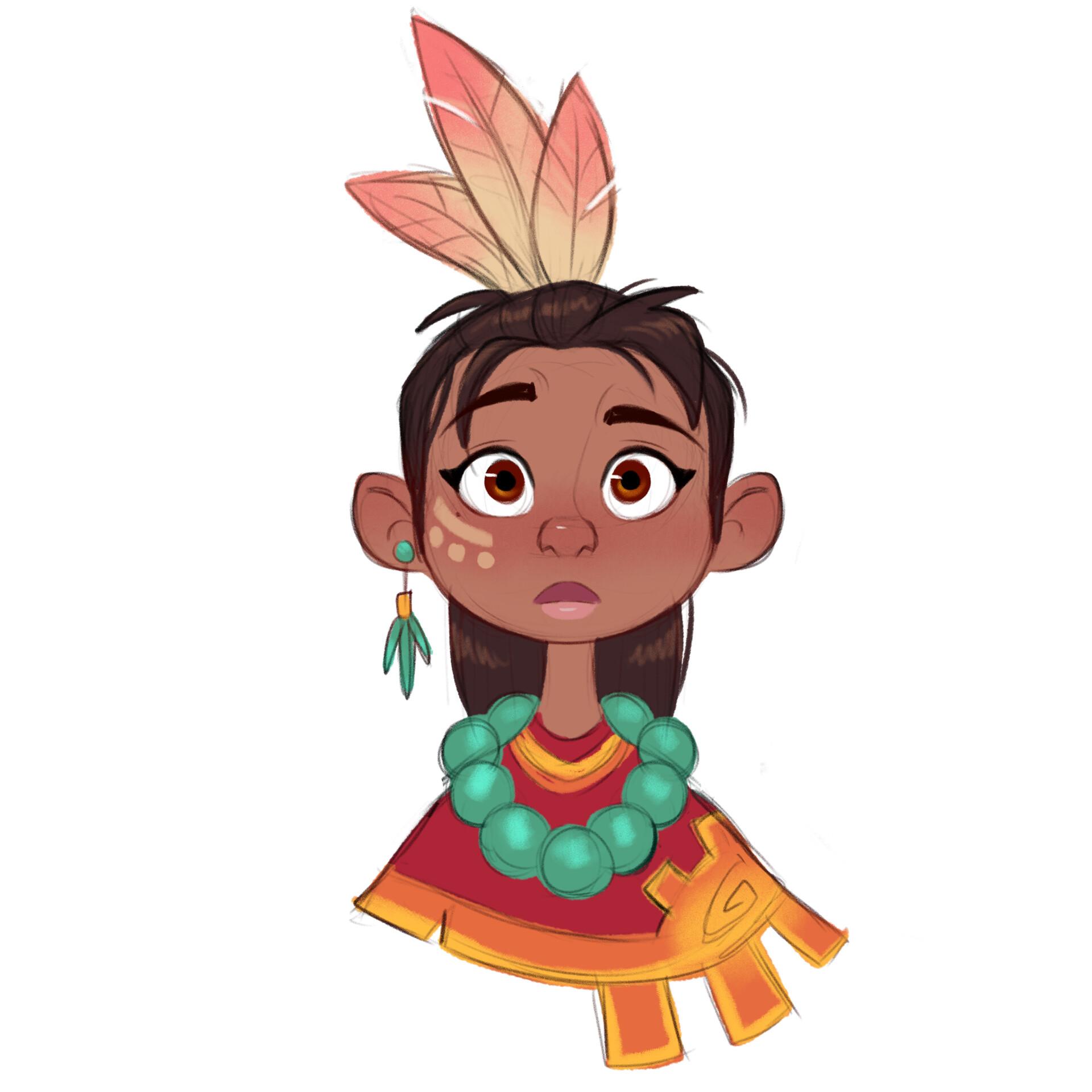 Luigi lucarelli tribal girl expressions 4