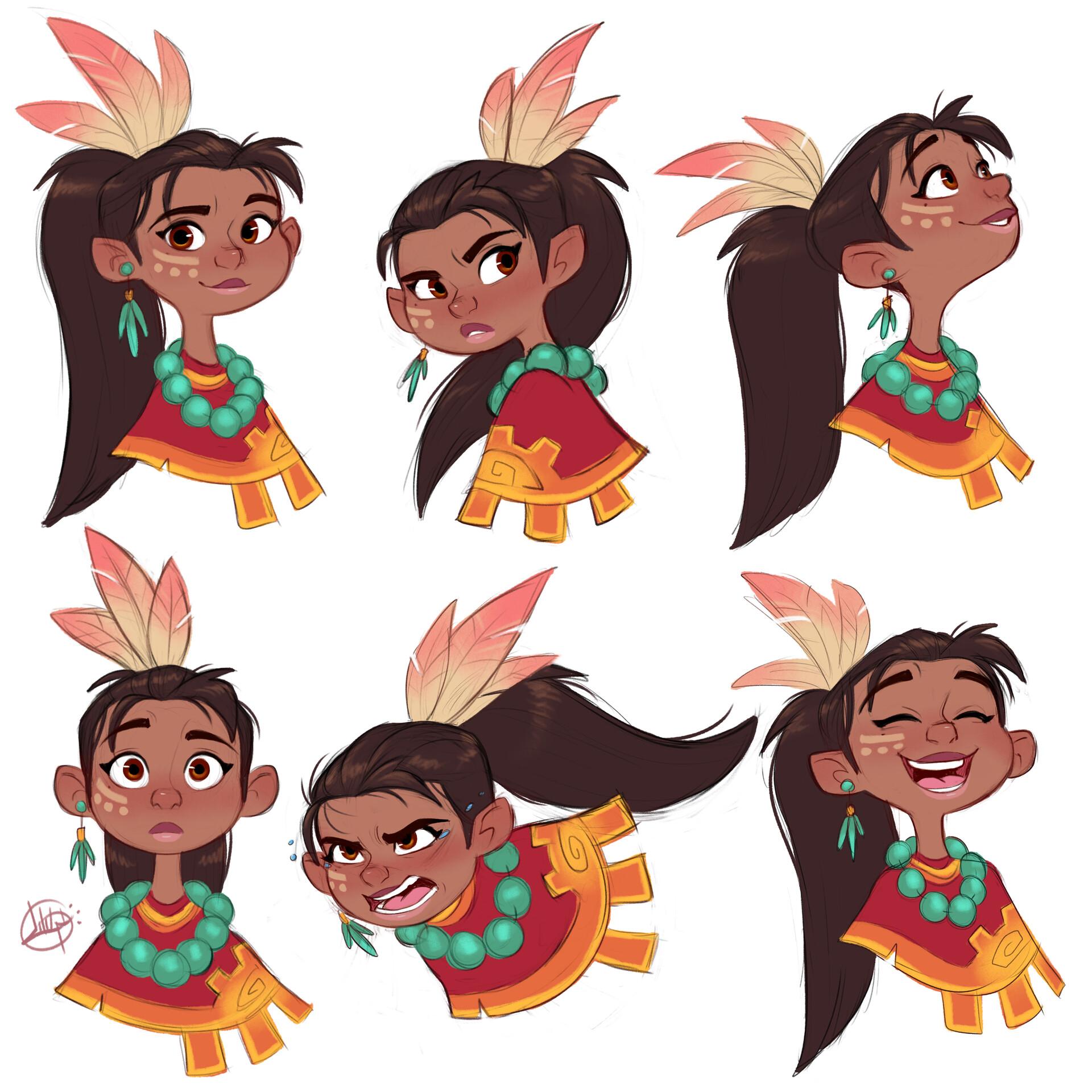 Luigi lucarelli tribal girl expressions