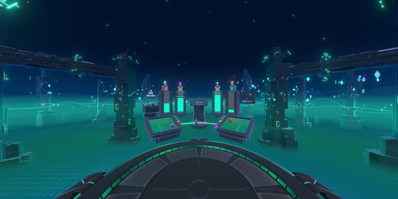 Environment overview with the DJ booth