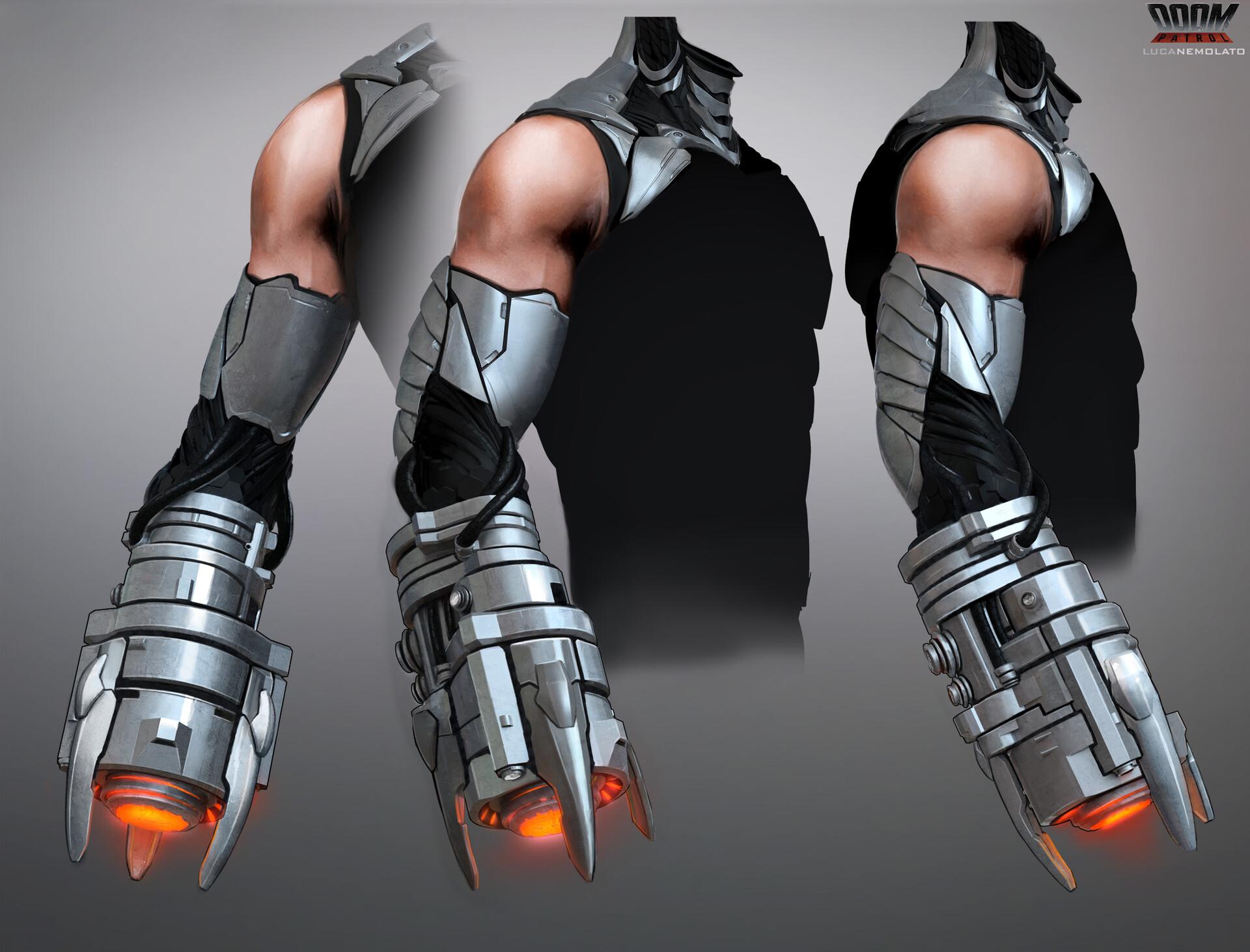 Artstation Doom Patrol Cyborg S Cannon Luca Nemolato