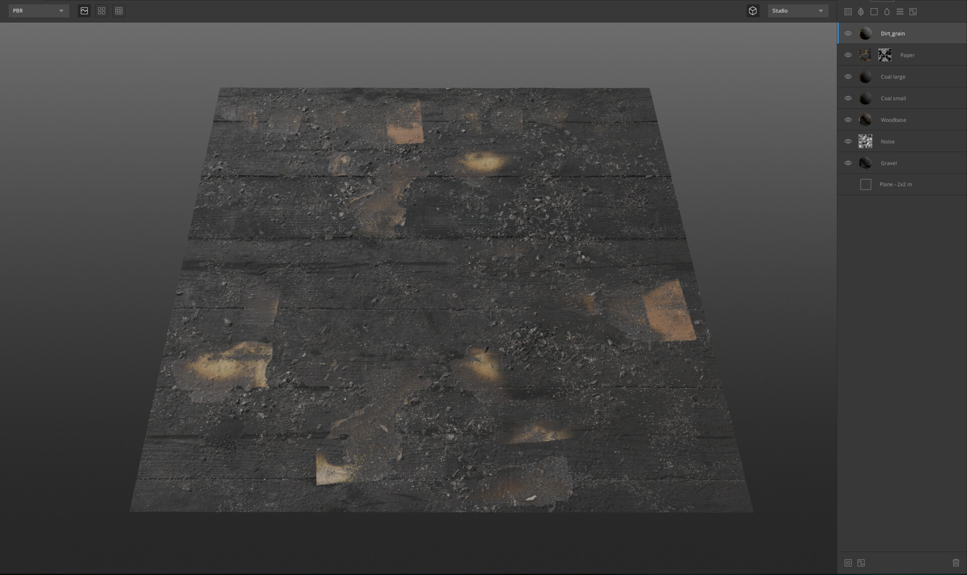 Material creation in mixer