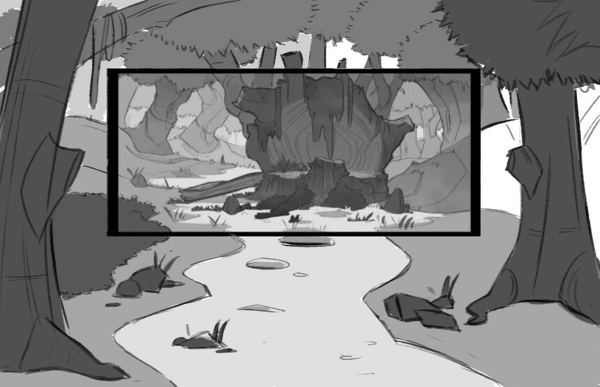 """Backgrounds/layouts for """"Barbie Jean"""" for Mariposa Pictures"""
