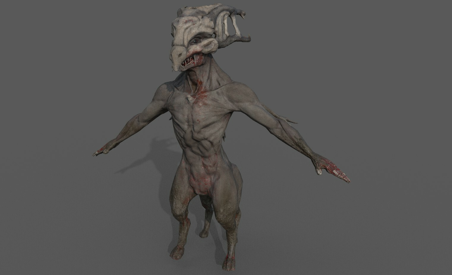 Character rendered in Substance Painter.