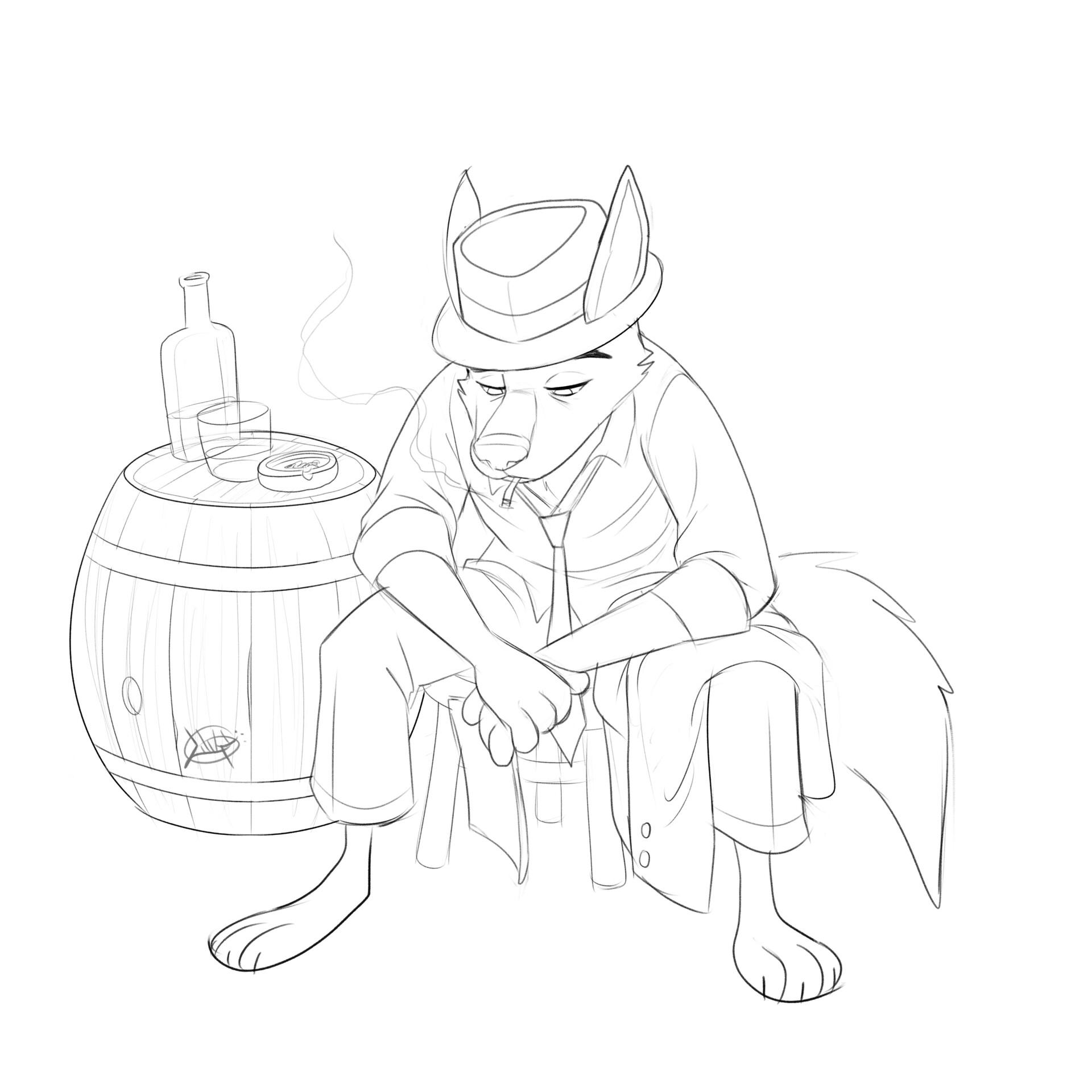 Luigi lucarelli contemplating wolf clean lines