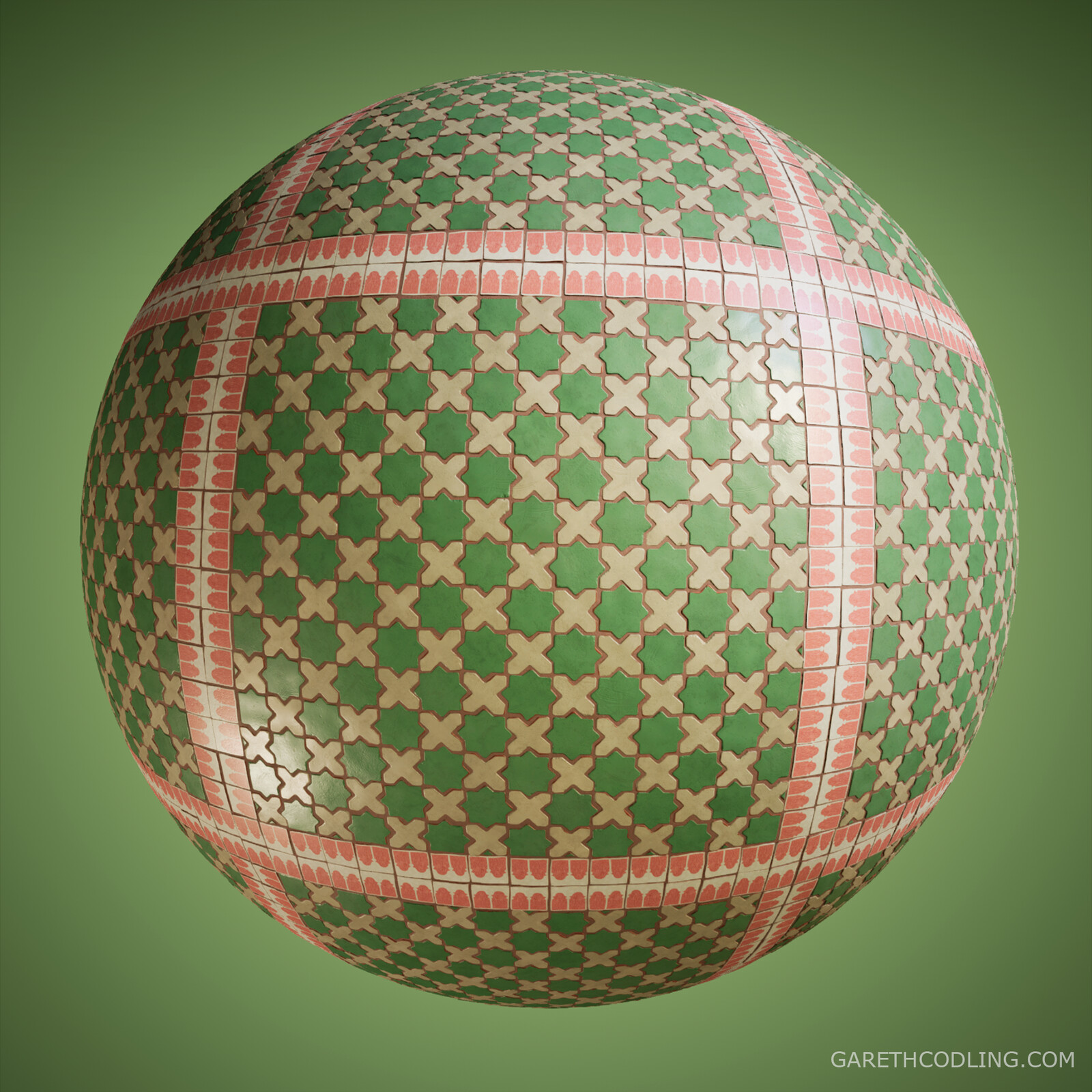 Terracotta Tiles Material Ball