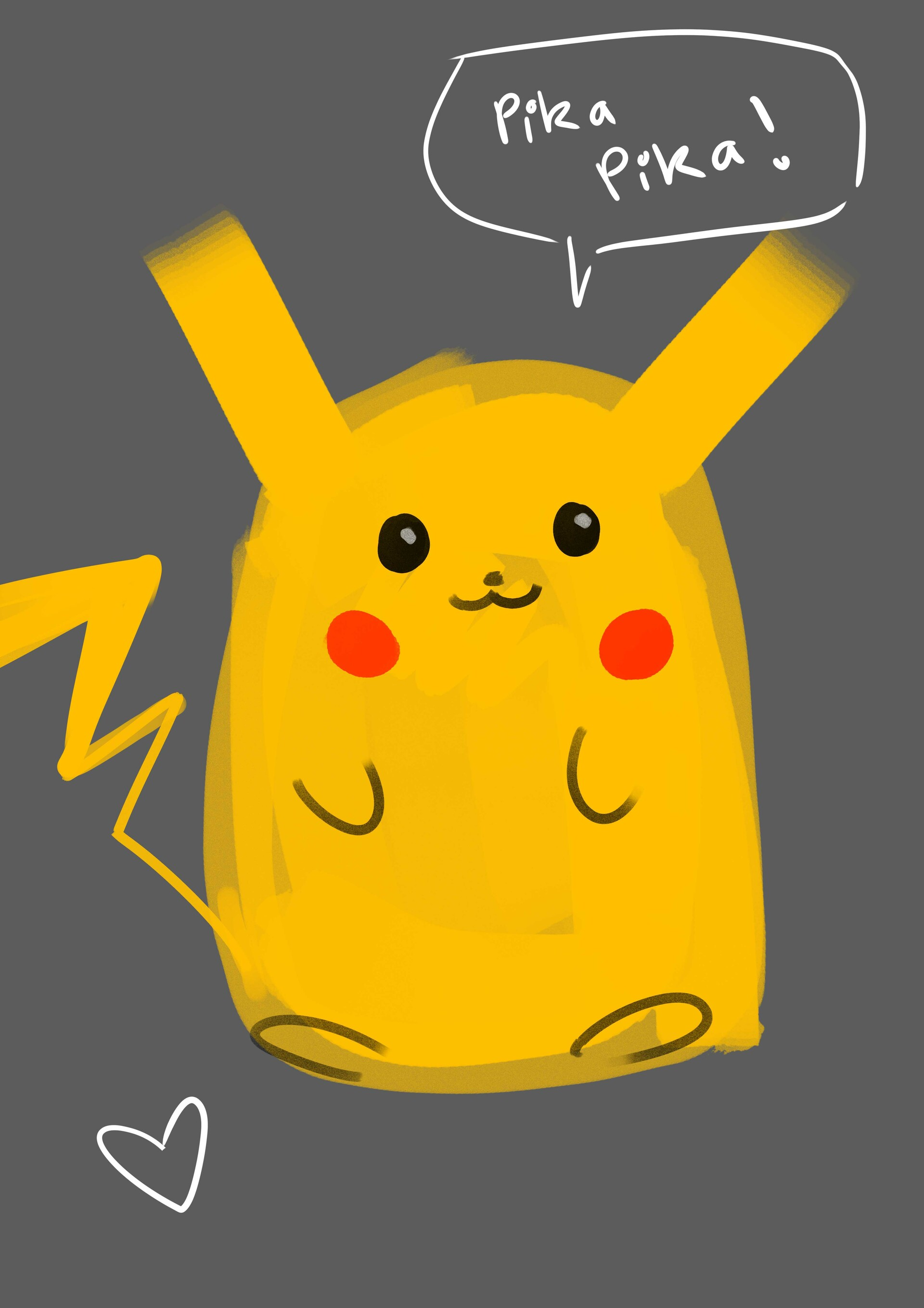 Pikachu before the weight loss