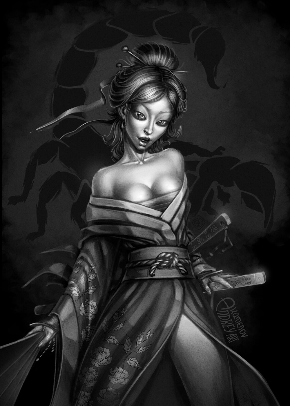 Andrey kamenov samurai geisha 07