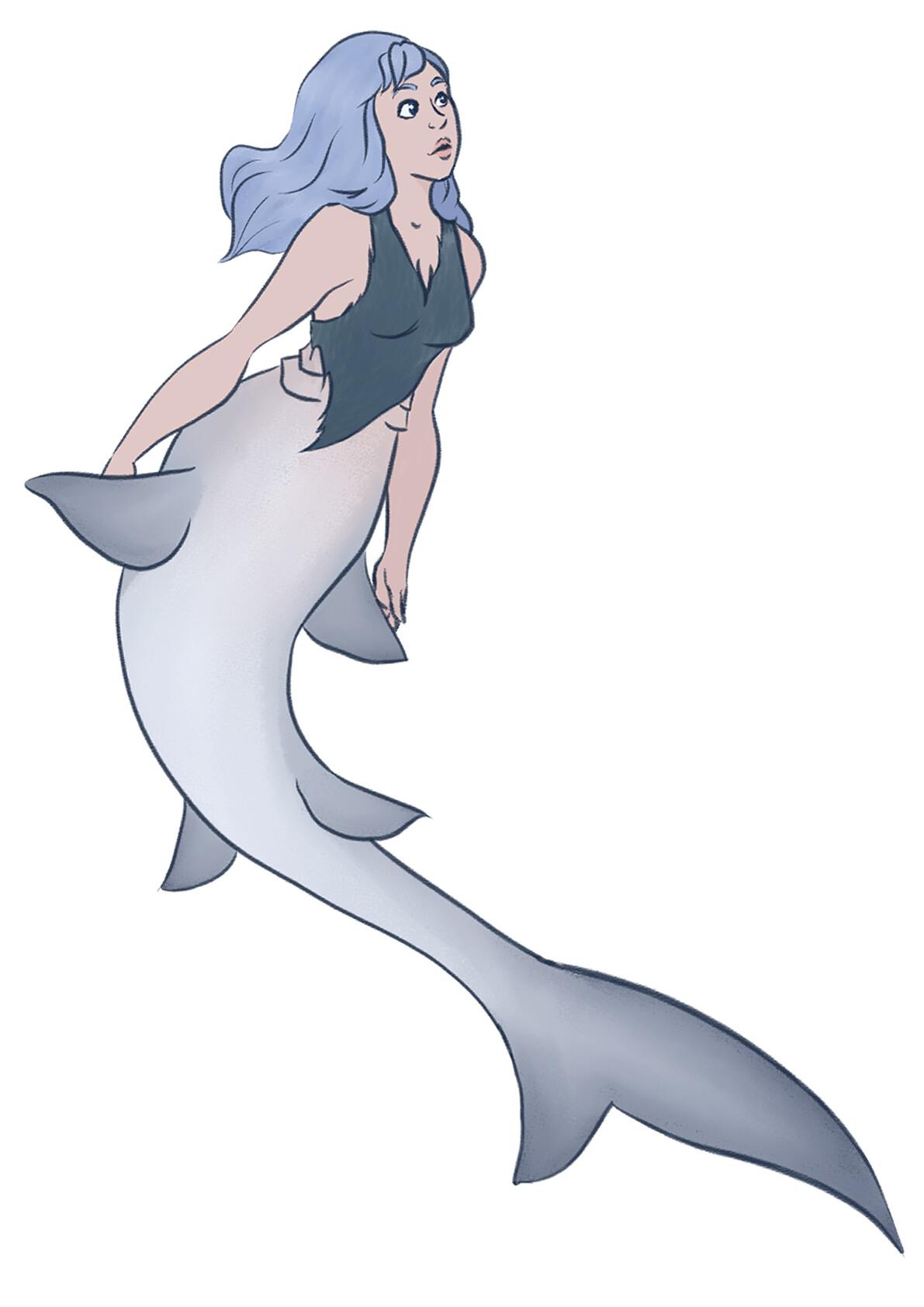 Jessi olney mermay white shark