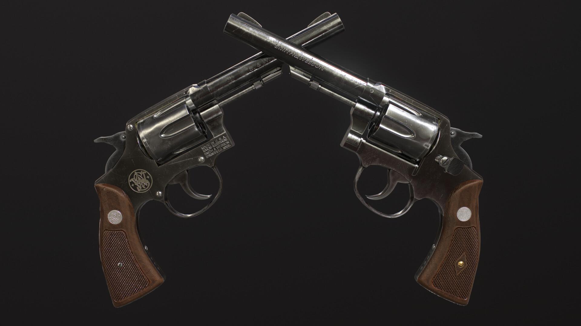 ArtStation - Smith & Wesson Revolver Model 10, Ramy Ahmed Yahia