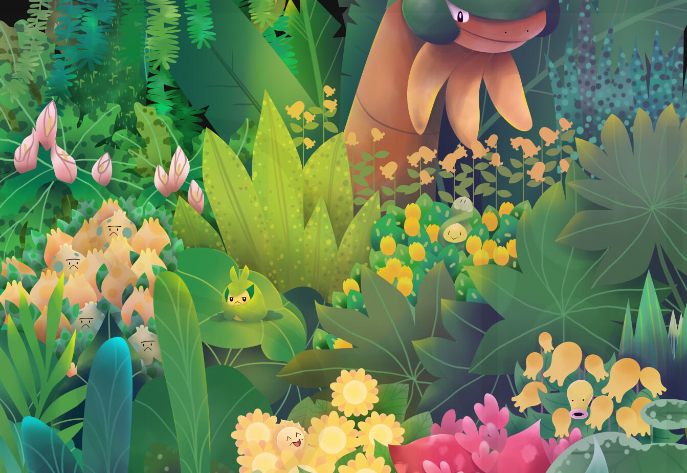 269152000 ArtStation - In the Leaves-PokemonxUniqlo UTGP 2019 entry, Stephanie ...