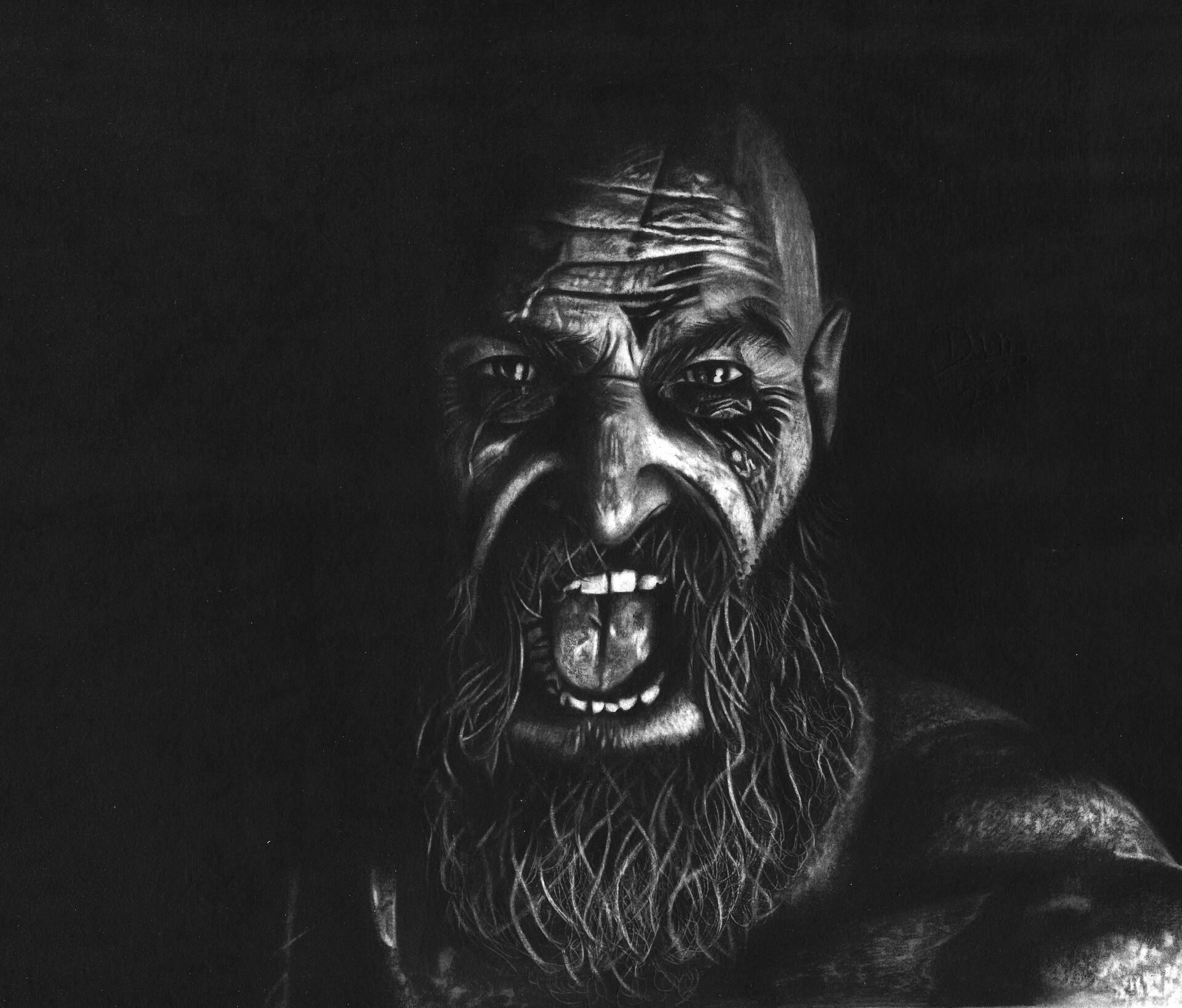 Darlan Silva Drawing Kratos Gow 4