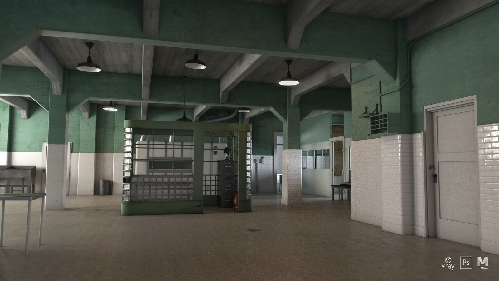 Alcatraz Kitchen V-Ray