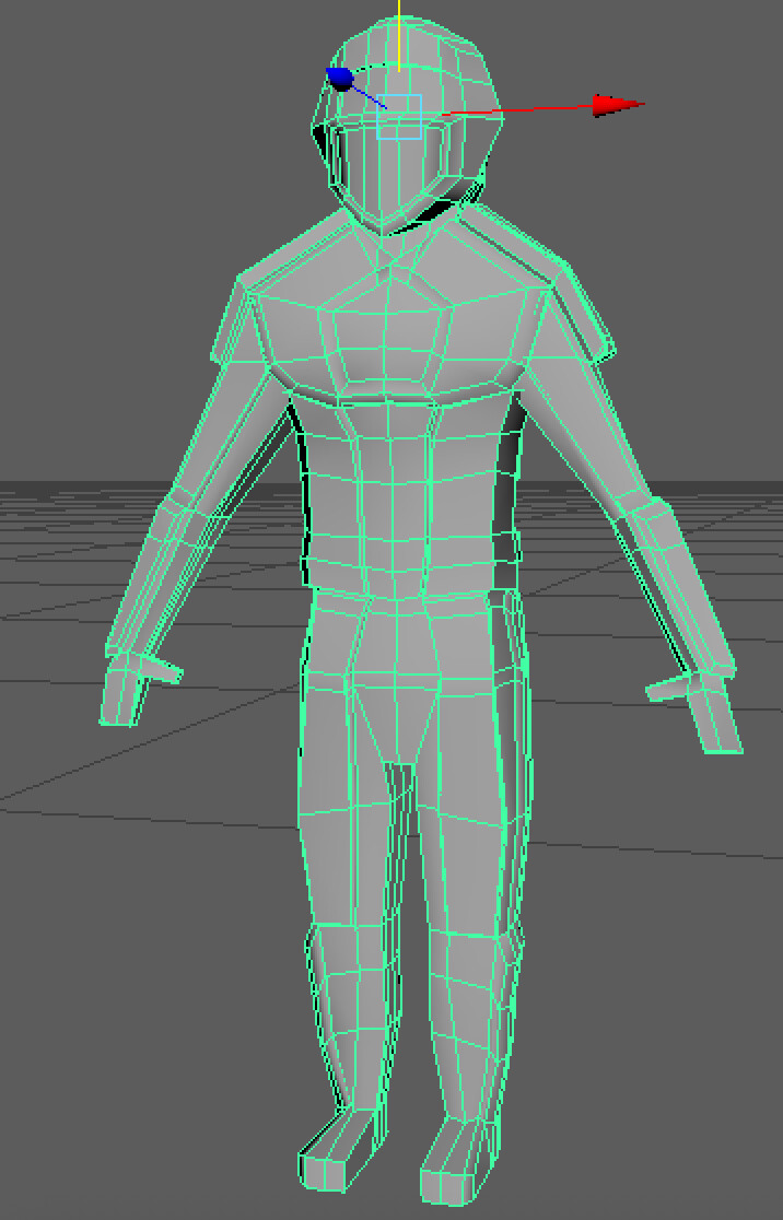 This is the player character model that I designed and UV'd.
