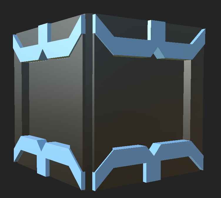 This is the basic box model that I designed, UV'd, and textured.