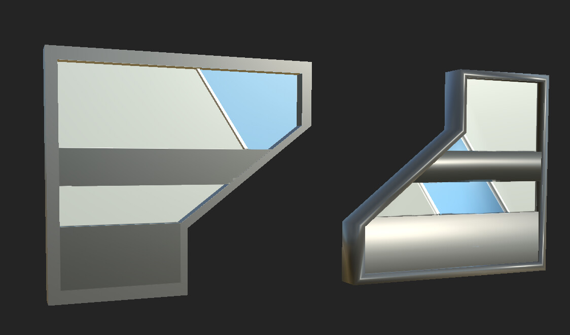 This is the wall model that I designed, UV'd, and textured.