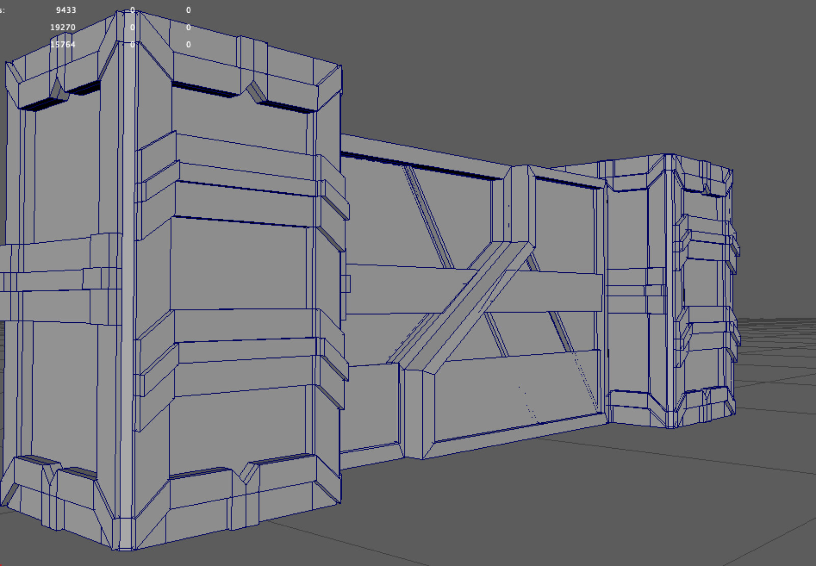 This is the wireframe for the wall and wall tower.