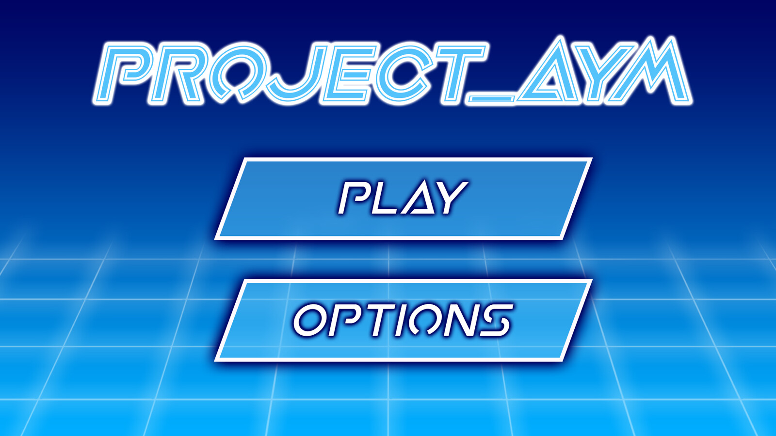 This is the Main menu screen that I designed.