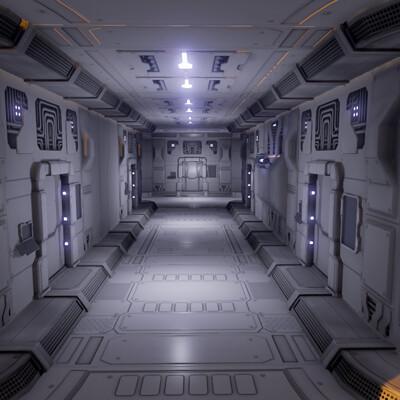 Modular Scifi Hallway