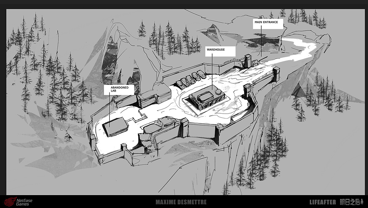 LifeAfter : Empire Base Lab - map (2016)