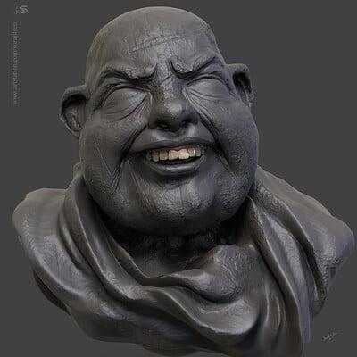 Surajit sen haappyy digital sculpture surajitsen june2019