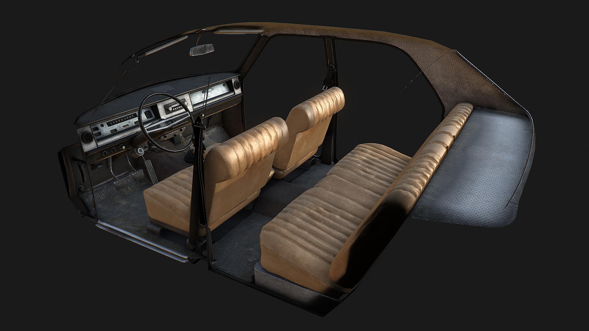 Dayz Volga car interior texturing 2