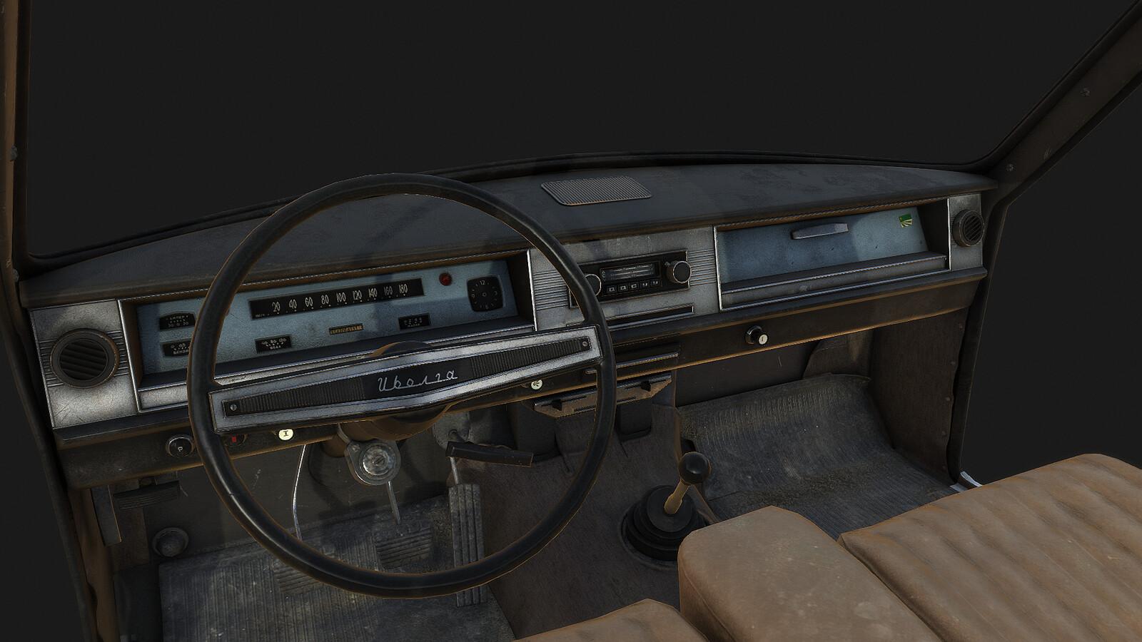 Dayz Volga car interior texturing 1