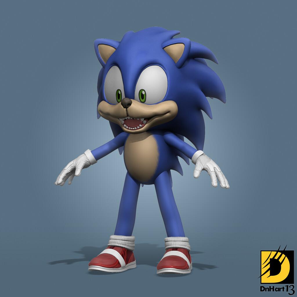 Artstation Sonic The Hedgehog Chris Aryanto