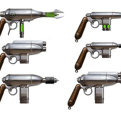 Simon lissaman ray gun variations