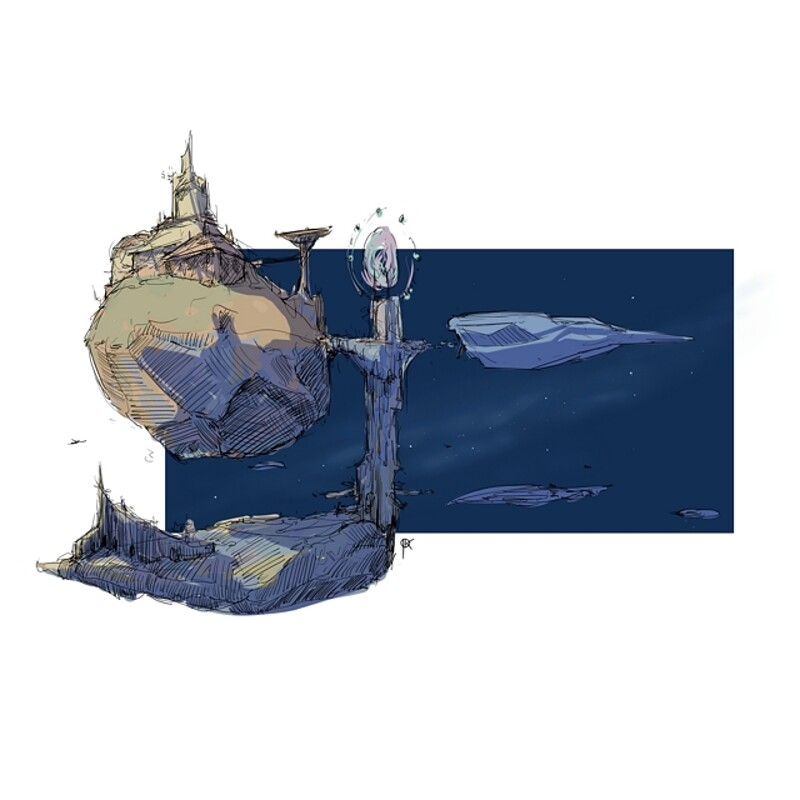 Floating buildings sketches 2