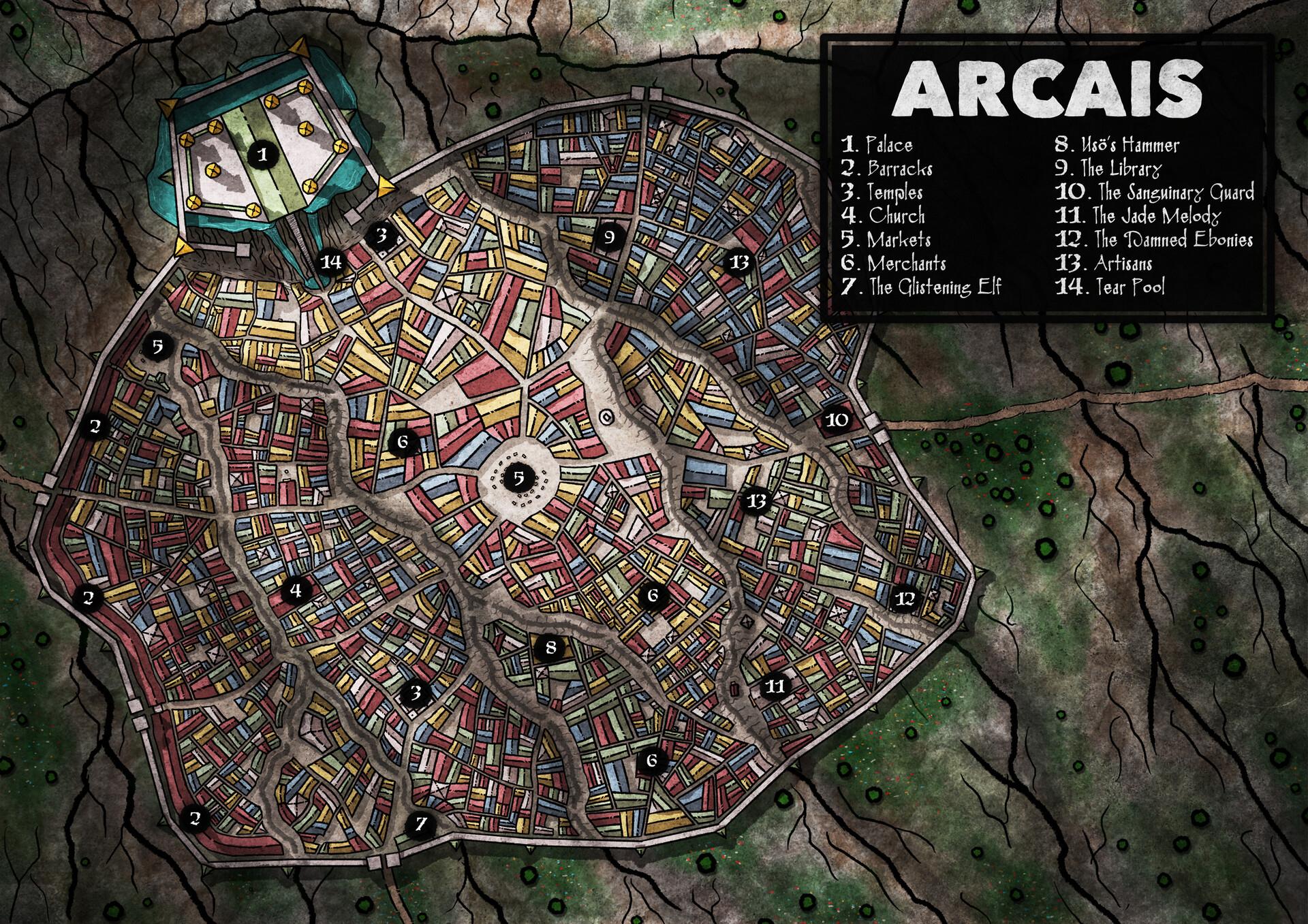 ArtStation - D&D City Maps, Jared Lewis