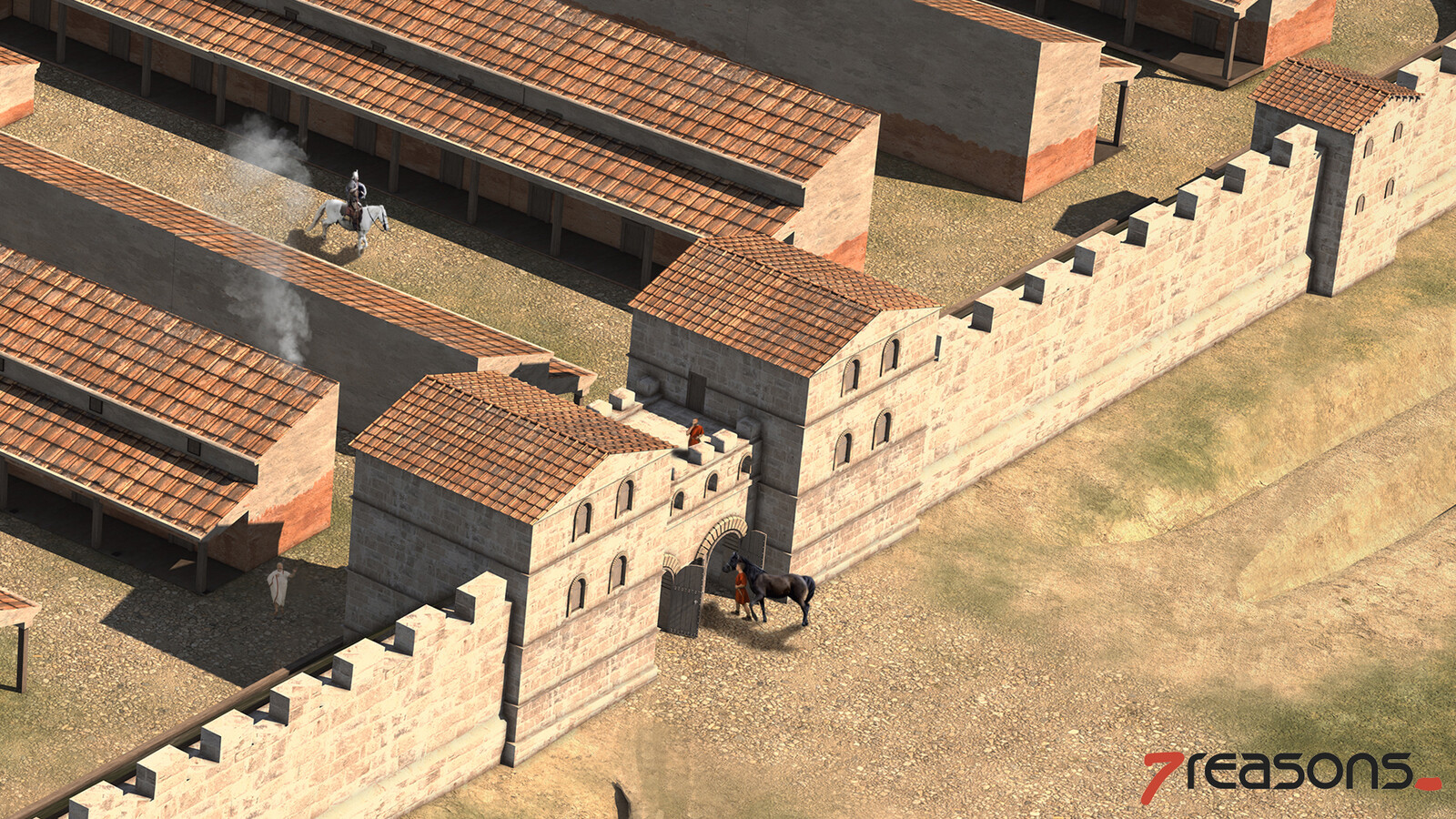Roman Auxiliary Fortress - Northern gate