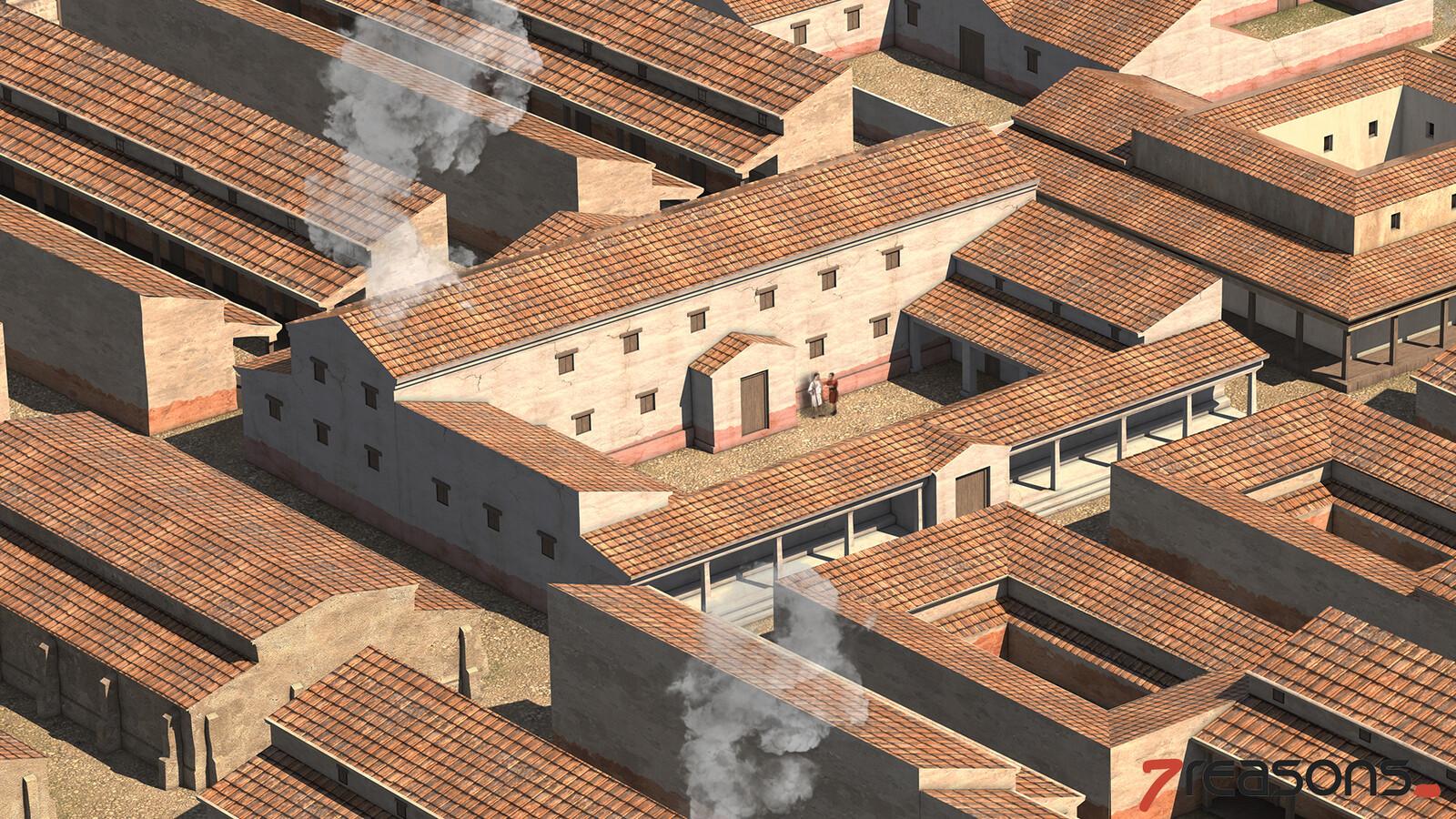Roman Auxiliary Fortress - Principia (Headquarters)