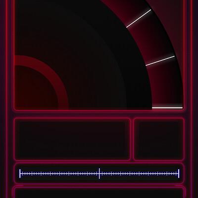 Rose lafeuille neon sideboard
