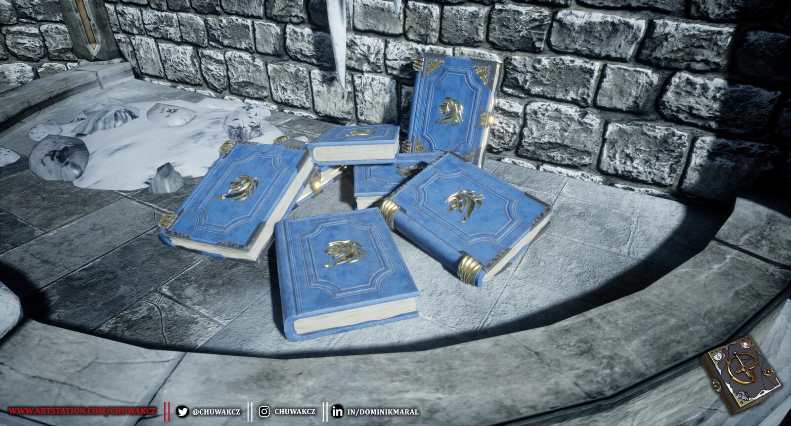 Pile of spellbooks