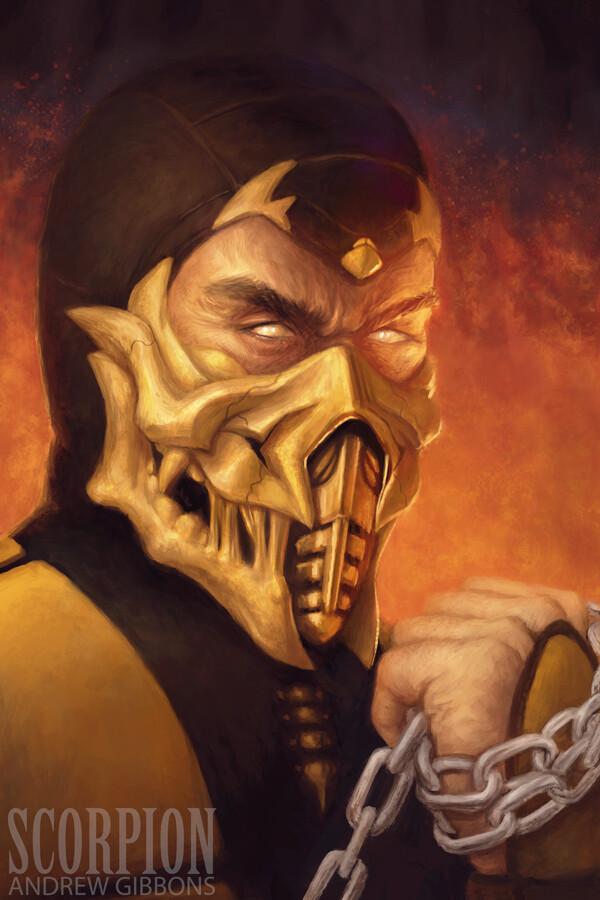 Artstation Scorpion Mortal Kombat Andrew Gibbons
